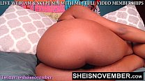 Big Thunder Thighs Having Black Hot Babe Msnovember Flashing Pink Pussy On Webcam And Tight Booty Hole Butt Plug Anal Play HD Sheisnovember صورة