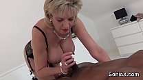 Unfaithful english milf lady sonia shows off he...