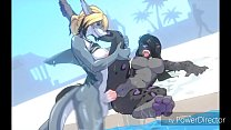 Shark and Panther Poolside Anal Fucking preview image
