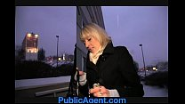 PublicAgent Blonde Laura's ass gets covered in my cum thumbnail