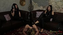 Our Human Ashtray - Lady G and Mistress Pandora Humiliate Cat Guy صورة