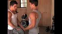 Two straight Guys In The Fitness Room