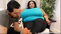Ebony SSBBW Cotton Candi Slurps and Sucks on Latino Stud