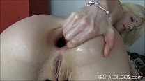 Petite Blonde Brutalizes Both Her Holes With Big Dildos - Xxx hardcore thumbnail