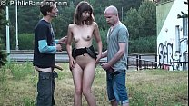Very pretty woman is fucked by 2 guys with big ...