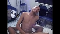 Two ebony dudes gulp each other's black dongs then butt fuck crazily for cream