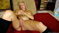 fuq porno - Naughty old spunker talks dirty and fucks her juicy pussy thumbnail