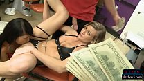 Amateur blonde accepts big dollars to have her pussy fucked