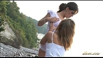 Two Gergeous Scandinavian Babes Public Pussy Licking