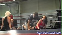 Lesbian beauties wrestling and kissing's Thumb