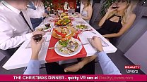 Blowjob under the table on Christmas in VR with beautiful blonde Vorschaubild