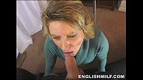British milf POV blowjob in stockings - download porn videos