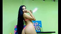 sexy long hair latina long hair bun drop video