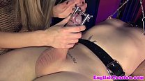 Rough Femdom Wanking Off Submissive