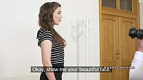 Small tits brunette fucks fake agent preview image