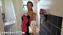 BANGBROS - Petite Latina Cleaning Lady Veronica Rodriguez Takes a Big Dick Thumbnail
