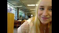 Sexy blonde squirts in library xHamstercom