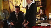 Classy redhead officebabe banged by the boss - 9Club.Top
