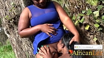 13167 African Amateurs Caught Eating Pussy in PUBLIC PARK preview
