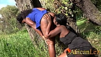 African Amateurs Caught Eating Pussy in PUBLIC PARK صورة
