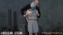 Tough girl is gagged up and caned zealously