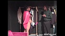 Horny busty ebony chick with enormous