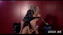 Fine lesbo chick gets toes licked and shaved cu...
