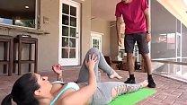 Stepmom seducing him with yoga exercise