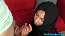 13721 Arab milf wanking cock while in hijab preview