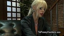 Hot tranny milf gets double teamed