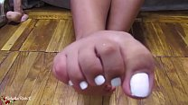 Girl Demonstrate Sexy Feet and Footjob Sex Toy - Foot Fetish