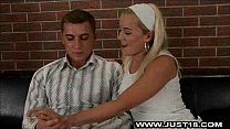 Naughty Blonde Teen In Rough Sex Scene