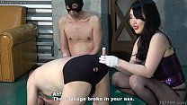 Japanese Femdom Hitomi Anal Training with Vegetable