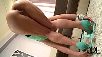 Hot Blonde Kelly White Sinks A Finger In Her Re... Thumbnail