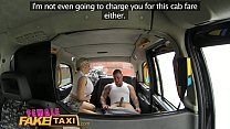 Female Fake Taxi Stud covers sexy drivers big tits in cum preview image