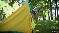 8830 Lusty teen blonde bang grandpa in the woods preview