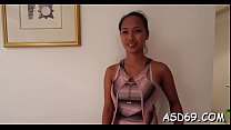 Spoiled thai playgirl ride a one-eyed monster