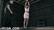 Beauty gets her cum-hole pleasured while inside a cage