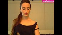 Cute Sexy and Young Babe With Small Boobies On Webcam And Sucks Boyfriend