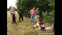 Great outdoor group sex full of nasty video