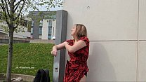 Longhaired redhead Jannas public masturbation and outdoor milf flashing the stre Preview