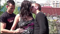 Cum on face of pregnant big tits star Stella Fo...