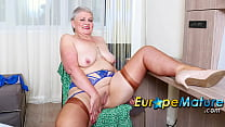 EUROPEMATURE Busty Mature Candy Cummings Exposing Her Tits And Fucked Herself
