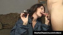 Brunette Milf Charlee Chase Smokes Cigar & Bangs A Big Dick! thumbnail
