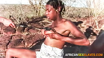 Extreme African outdoor amateur orgy