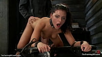 Bound spinner big cock anal fucked