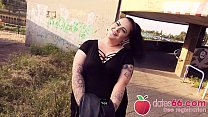 BIG GERMAN girl AnastasiaXXX gets some stranger's DICK in her CUNT right next to the autobahn! (ENGLISH) Dates66.com