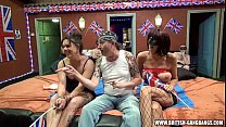 Orgy - British amateur girls gangbang swingers party Thumbnail