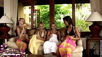 Fiery Foursome lesbian group with Jackie Rene S...