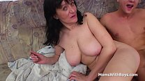 Busty Mother Fucking Son's Cock - Full Movie pornhub video